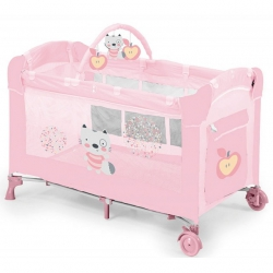Cuna plegable de viaje Dream Baby en color rosa