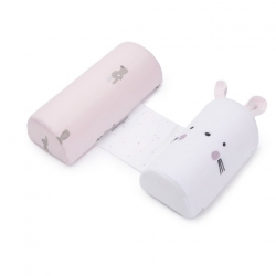 Almohada antivuelco regulable para bebés SNOOPS color rosa